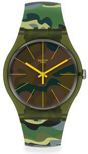 SWATCH hodinky SUOG114 CAMOUFOREST