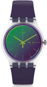 SWATCH hodinky SUOK712 POLAPURPLE