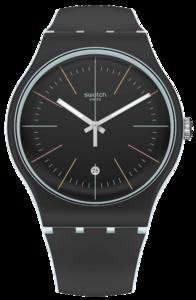 SWATCH hodinky SUOS402 BLACK LAYERED
