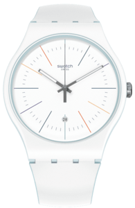 SWATCH hodinky SUOS404 WHITE LAYERED