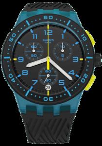 SWATCH hodinky SUSS402 BLUE TIRE