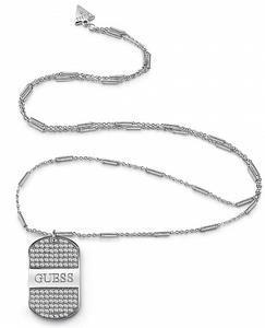 Guess náhrdleník UBN28105 steel