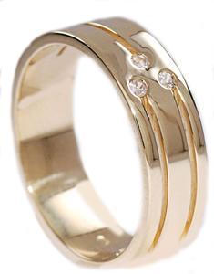 Zlaté snubní prsteny S10