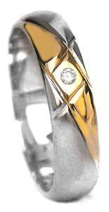 Zlaté snubní prsteny S20