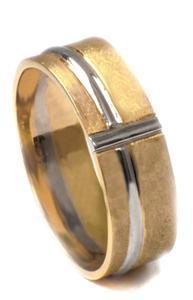 Zlatý snubní prsteny S68