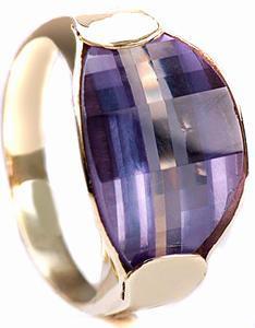 Zlatý prsten s alexandritem P804