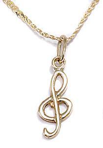 Zlatý přívěšek houslový klíč P132
