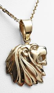 Zlatý přívěšek hlava lva 20411
