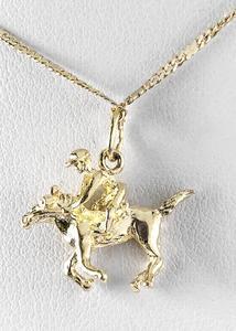 Zlatý přívěšek Jockey 06198