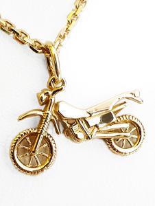 Zlatý přívěšek motorka 04272020