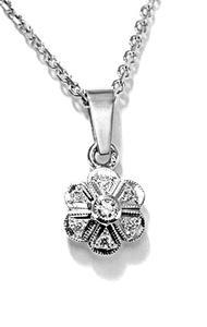 Zlatý přívěšek diamantová květinka P206