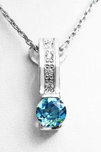 Zlatý přívěšek s topazem a diamanty 023567