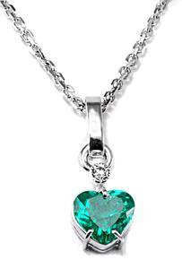 Zlatý přívěšek se smaragdem a diamantem P152