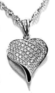 Zlatý přívěšek srdce P114