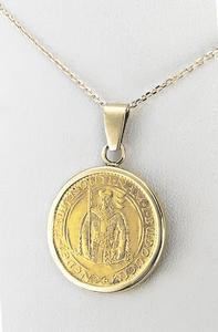 Zlatý přívěšek sv. Václav 21052021