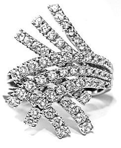 Zlatý prsten s diamanty PD419