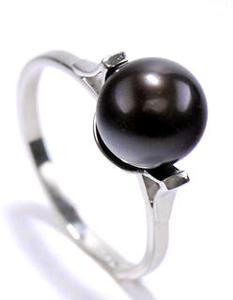 Zlatý prsten s perlou P883