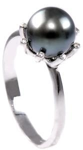 Zlatý prsten s tahitskou perlou a diamanty PD256