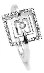 Zlatý prsten s diamanty 038446