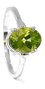 Zlatý prsten s olivínem P944