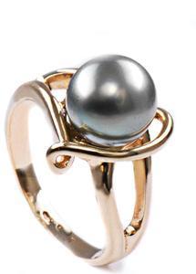 Zlatý prsten s perlou P876