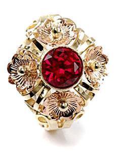 Zlatý prsten s rubínem P798