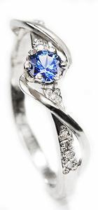 Zlatý prsten se safírem a diamanty 015084