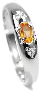 Zlatý prsten se žlutým safírem 015298