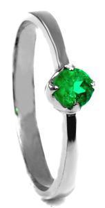 Zlatý prsten se smaragdem P1019