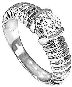 Zlatý prsten se zirkonem P774