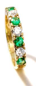 Zlatý prsten se zirkony P1002