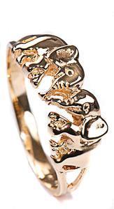 Zlatý prsten sloníci P849
