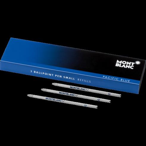 Montblanc gelová náplň Small Pacific Blue 116194 pro kuličkové pero 3ks