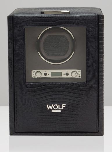 Wolf Blake single černá ještěrka 460658 watchwinder  - 1