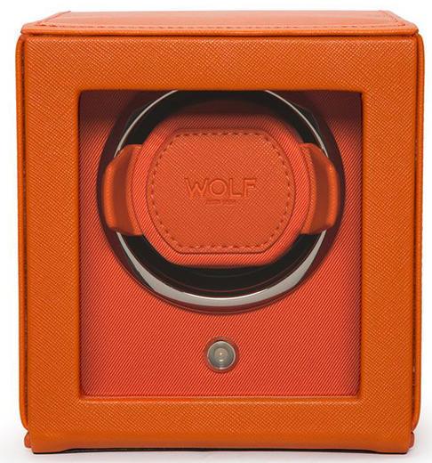 Wolf Cub single oranžová kůže 461139 watchwinder  - 1
