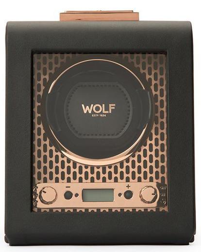 Wolf Axis Single černá kůže 469116 watchwinder  - 1