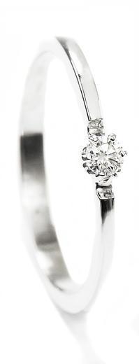Zlatý prsten s diamantem 015273  - 1