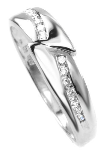 Zlaty prsten s diamanty 039141  - 1