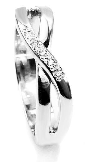 Zlaty prsten s diamanty 015288  - 1