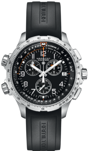 HAMILTON Khaki aviation X-Wind GMT Chrono H77912335  - 1