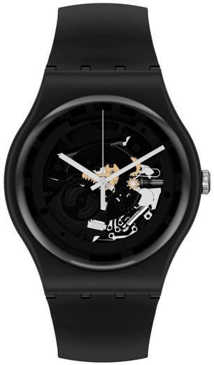 SWATCH hodinky SO32B108 SPOT TIME BLACK  - 1