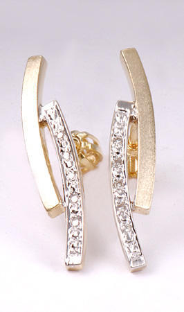 Zlaté náušnice s diamanty N154