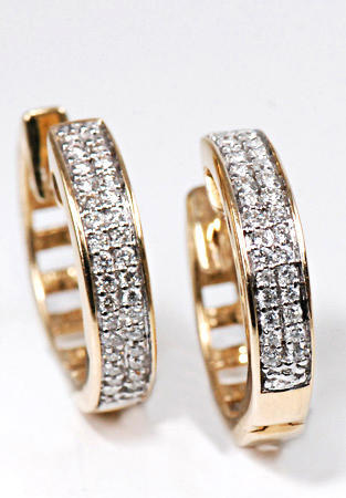 Zlaté náušnice s diamanty N245