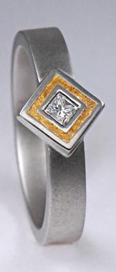 Platinový prsten PT1
