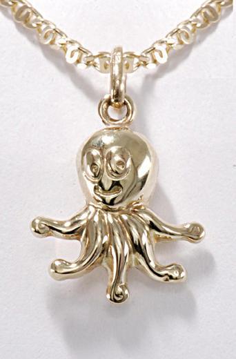 Zlatý přívěšek chobotnička P159