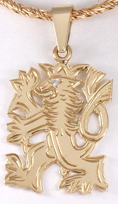 Zlatý přívěšek se lvem P38