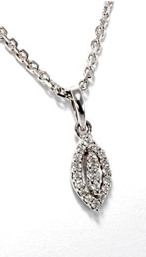 Zlatý přívěšek s diamanty P199