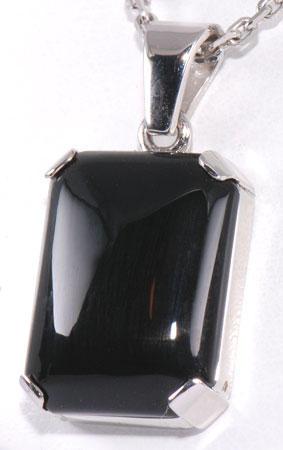Zlatý přívěšek s onyxem P46