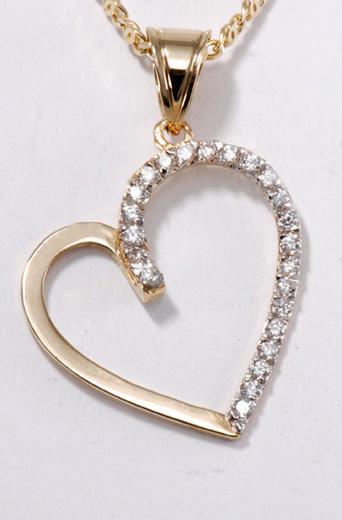 Zlatý přívěšek srdce P174