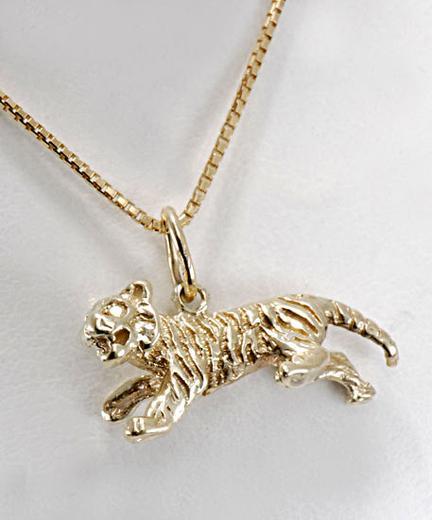 Zlatý přívěšek tygr P231